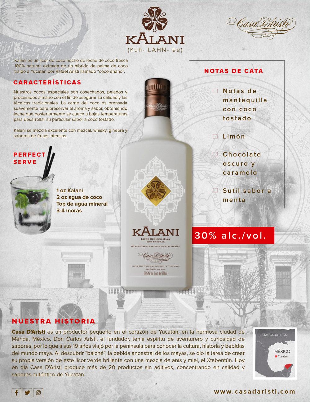 Kalani Casa D'Aristi Coconut licor