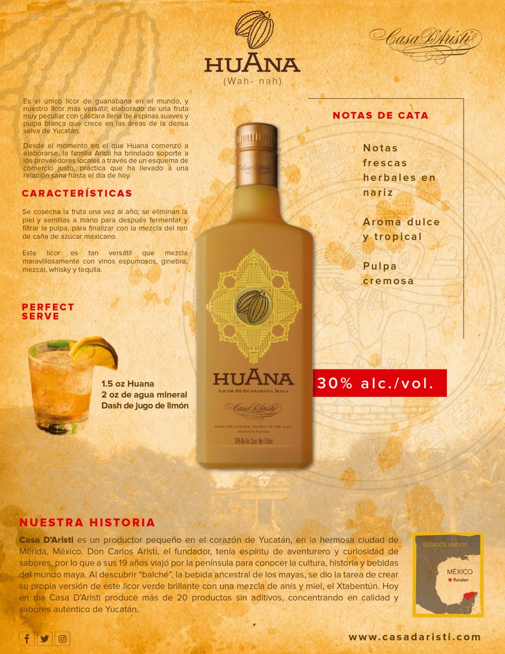 Huana Casa D'Aristi Guanabana licor
