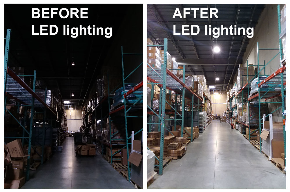 LED warehouse lighting in Aurora, Colorado