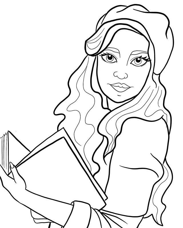 A #wip shot of my next drawing! #workinprogress #books #girlswithbooks #art #artist #illustration #illustrator #instaart #digitalart #digitalartist #procreate #lineart