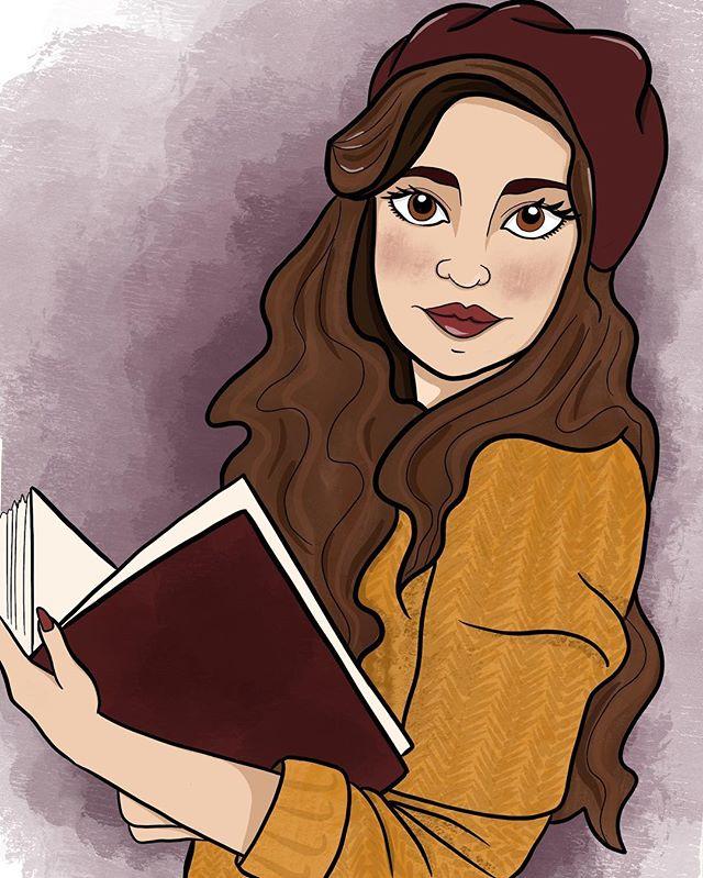 She is finally done! #procreate #digitalart #digital #digitalartist #instaart #illustrator #illustration #girl #girls #books #girlswithbooks #book