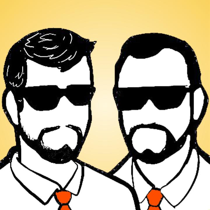 An artist rendering of Clint (Left) and Chad (Right) - don't worry, even without noses, we still smell.   Art courtesy of Cory Logan