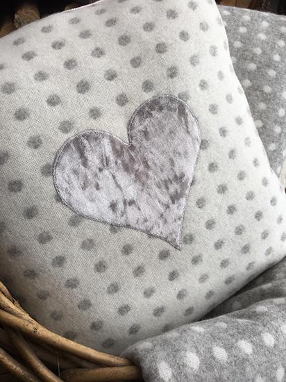 Polka Dot Pillow with Heart - Etsy Handmade in Haworth.jpg