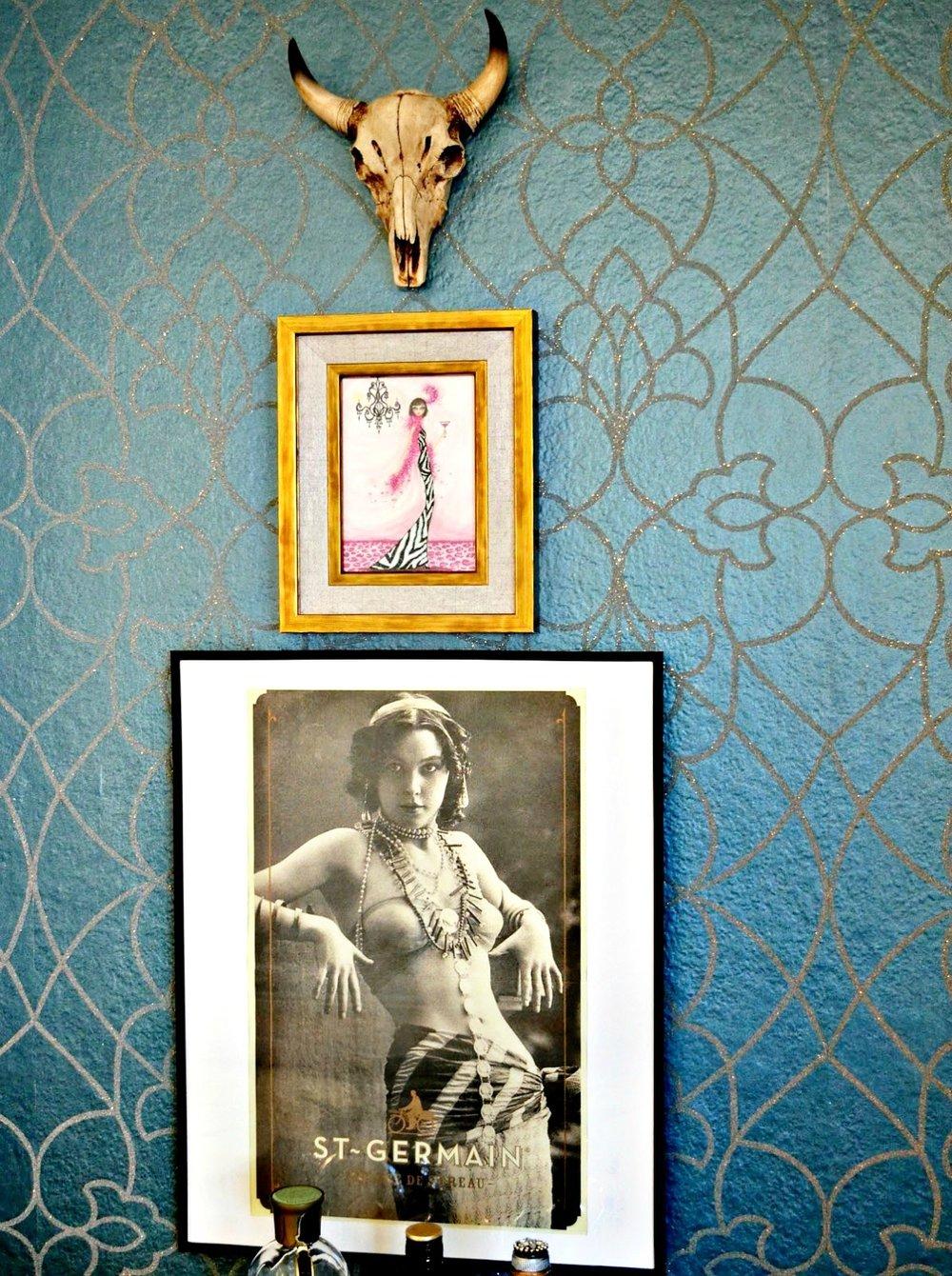 TV Nook Turned Into Home Bar Before & After — Becca Bella Design