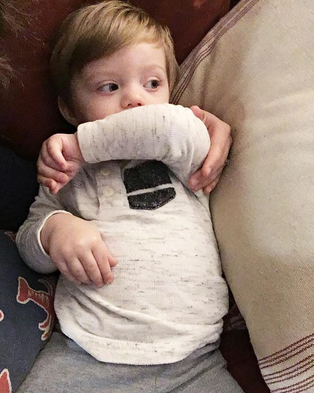 This little fella puts up a good front but he has a tell when he's tired that always lets his mama know it's time for bed. Little boy, you have my whole heart.