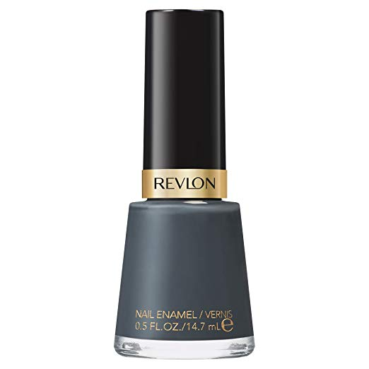 I love a rich gray, especially on my fingers. This isn't too intense and is just right for an office shade where people might look twice at black nails.  Revlon Iconic  is just that.