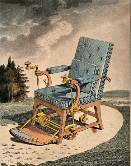 Wheelchair 1881 / Wellcome Images