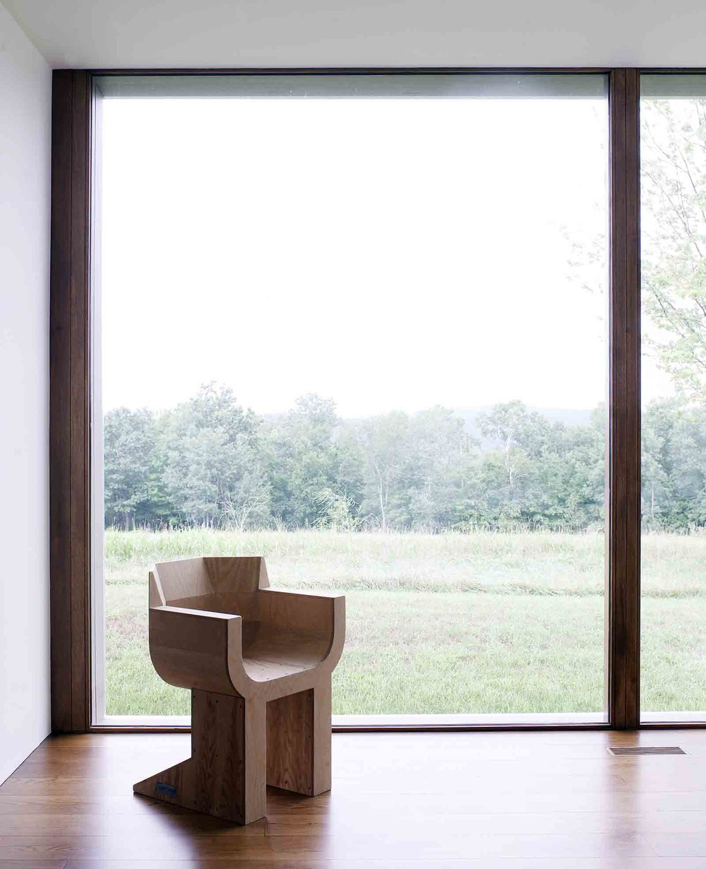 A Rick Owens chair in an upstate NY home by Ai Wei Wei. Image by Richard Powers.jpg