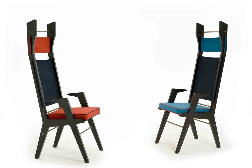 'Colette' chairs designed by Lorenza Bozzoli for Cole on display at Design Junction