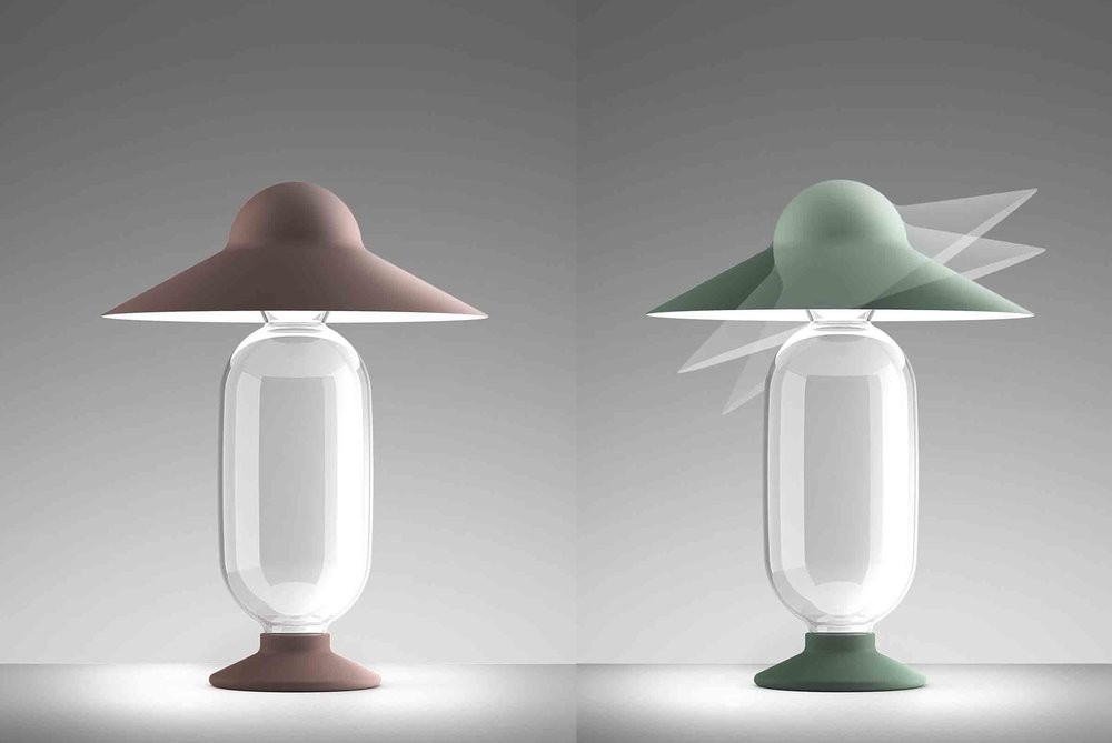 'Holly G' table lamps designed by Giorgio Biscaro for Fontana Arte