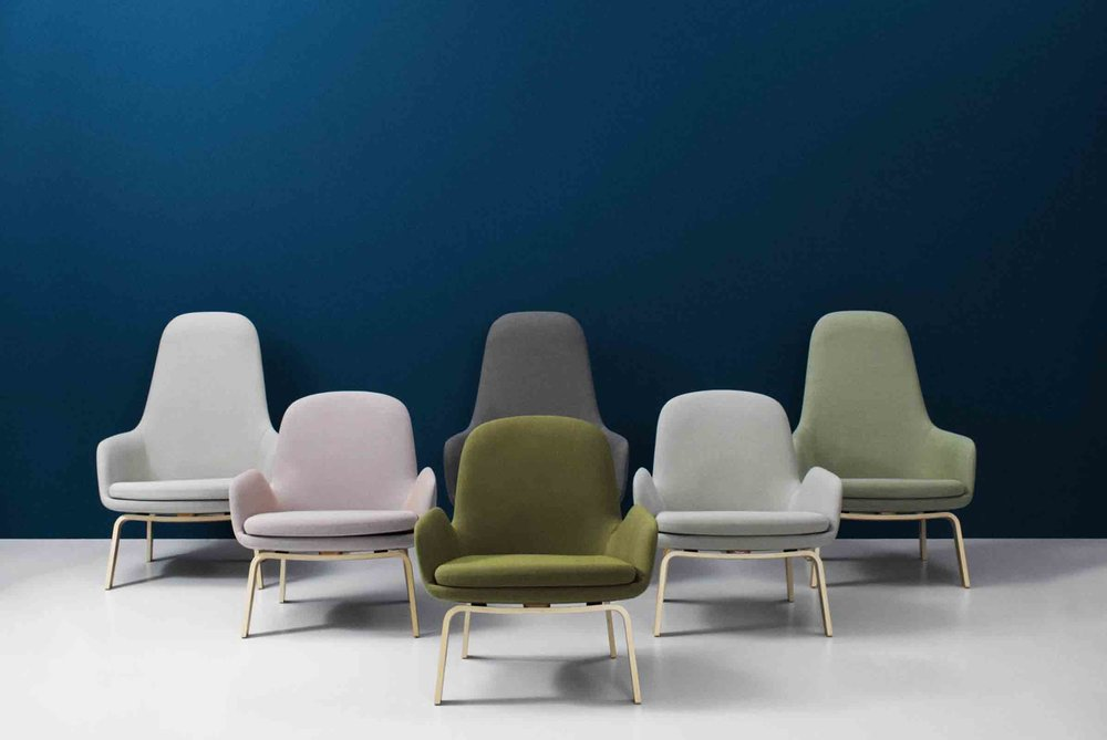 'Era' chair family designed by Simon Legald for Norman Copenhagen