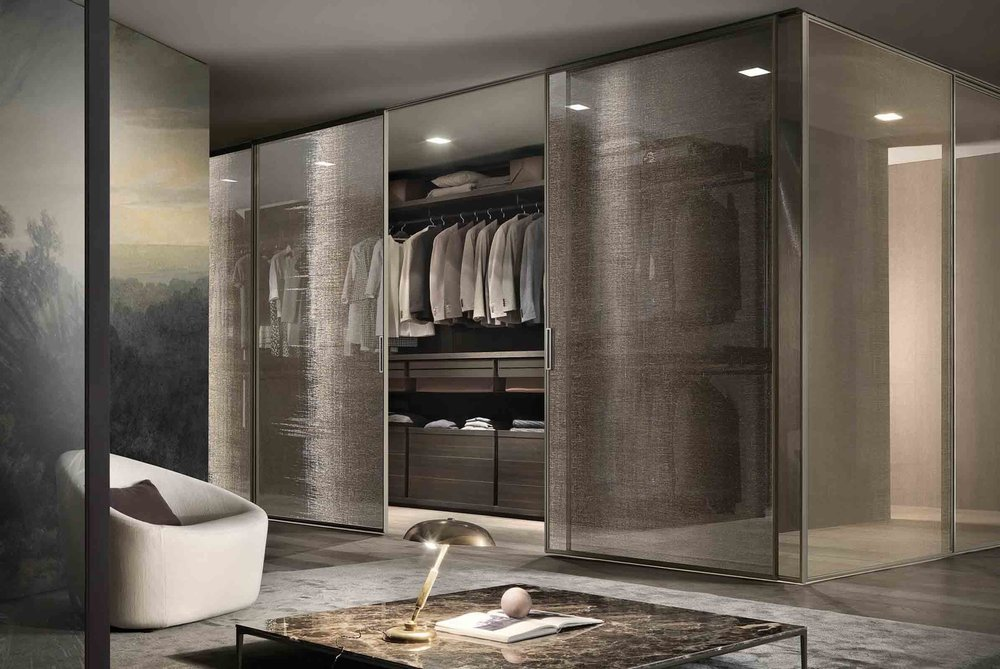 The 'Dress Bold' walk in wardrobe designed by Giuseppe Bavuso for Rimadesio
