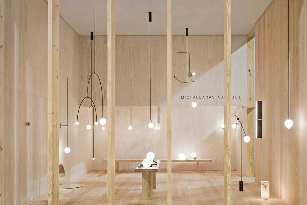 We loved the elegant minimalist designs from Michael Anastassiades