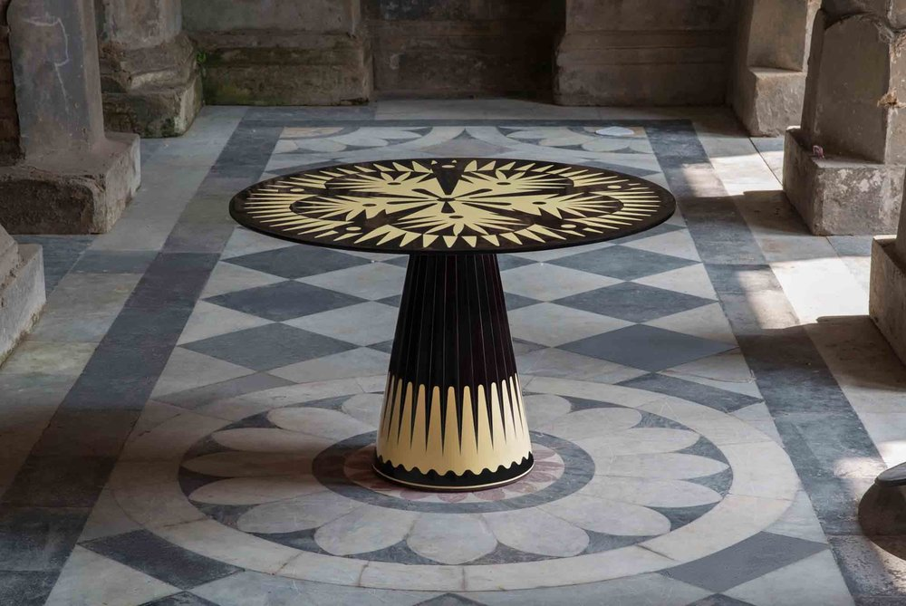 The 'Metropolis' table, designed by Italian Matteo Cibic for Indian company Scarlet Splendour