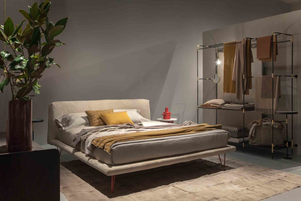 We loved everything from Ivano Raedelli, particularly the new Hayden bed and pret-a-porter storage units…