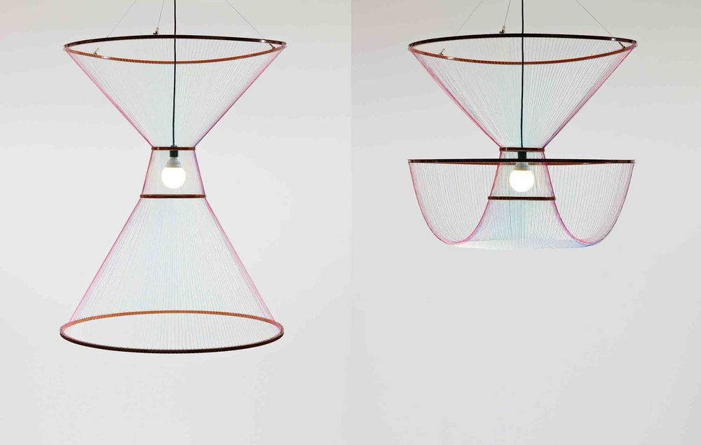 'Rhythm of Light' pendant, designed by Susanne de Graef for La Chance