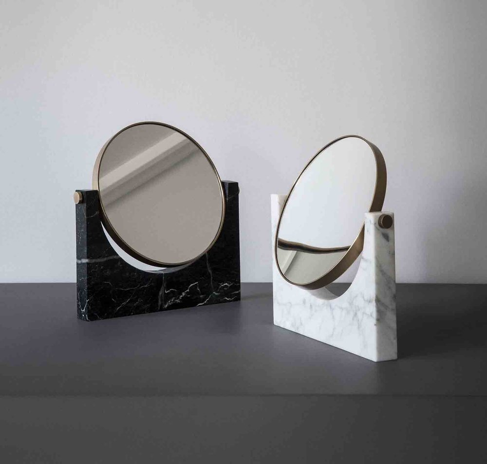 'Pepe' marble vanity mirrors from Menu