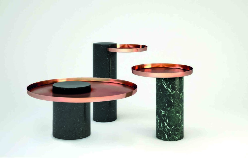 'Salute' tables, designed by Sebastian Herkner for La Chance