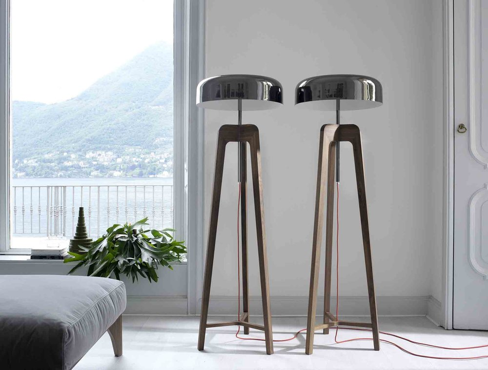 'Pileo' floor lamps from Porada