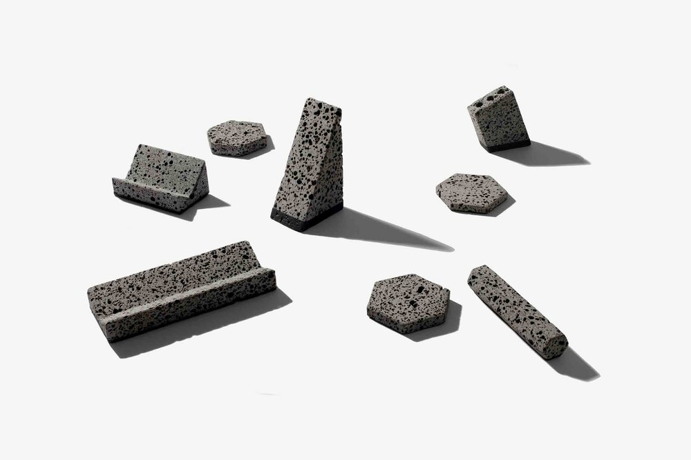 'Basalt' desktop accessories from Jeonghwa Seo