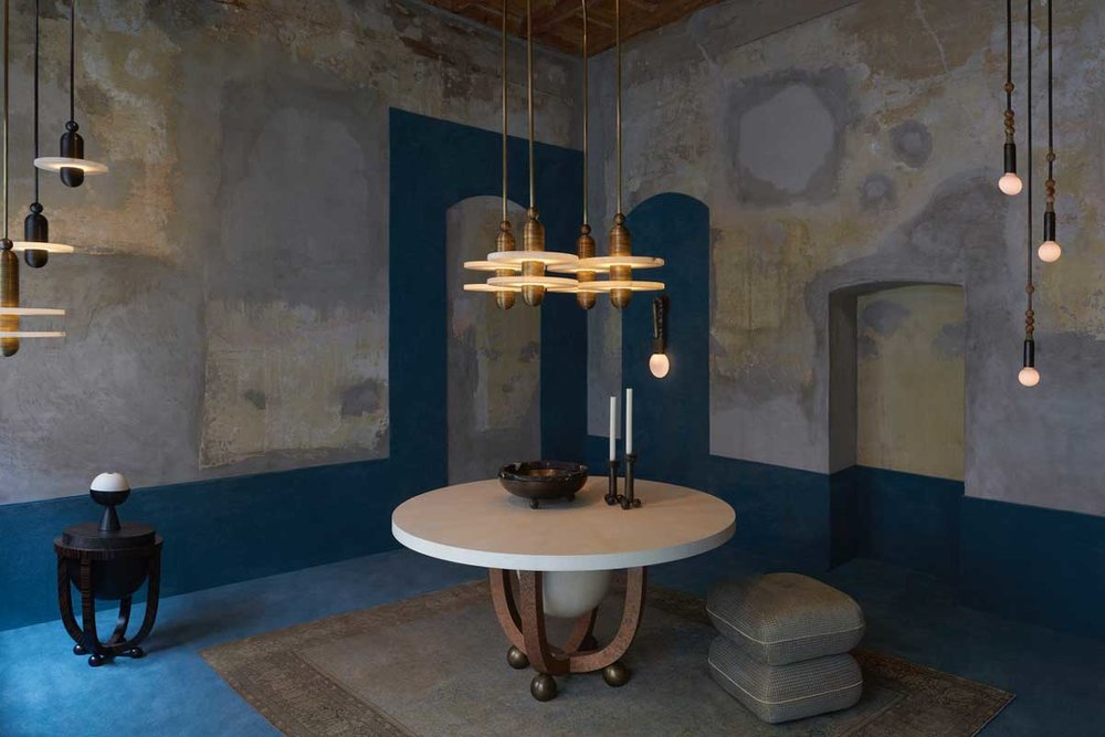 Layers of beauty from  Apparatus  at their via Santa Marta showroom