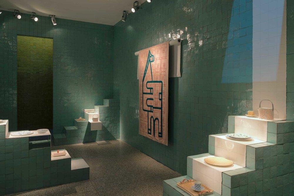 Hermes ' stunning Moroccan-inspired installation @ Palazzo della Permanente