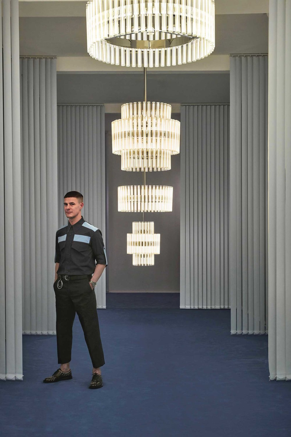 "Lee Broom's ""Observatory"" installation of his new lighting designs"