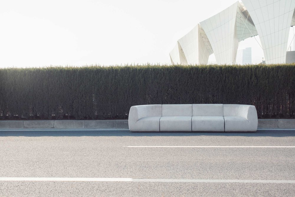 "Sensuous new sofa design ""Infinity"" by  Space Copenhagen  for  Stellarworks"