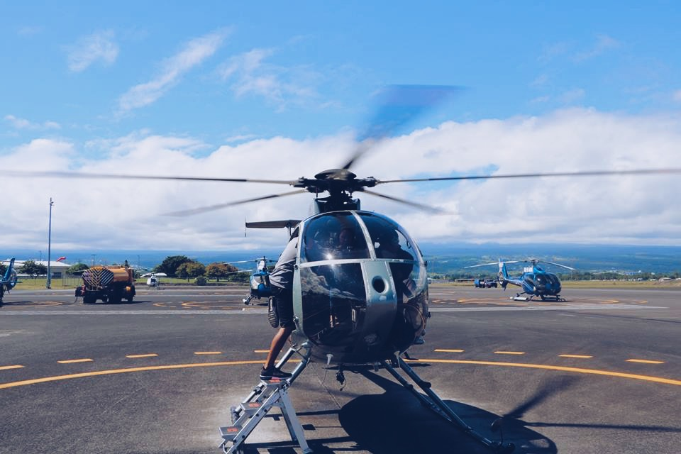 getting ready helicopter tour hawaii big island hilo travel tourism blogger vlogger influencer carla maria bruno blog lifestyle adventure.JPG