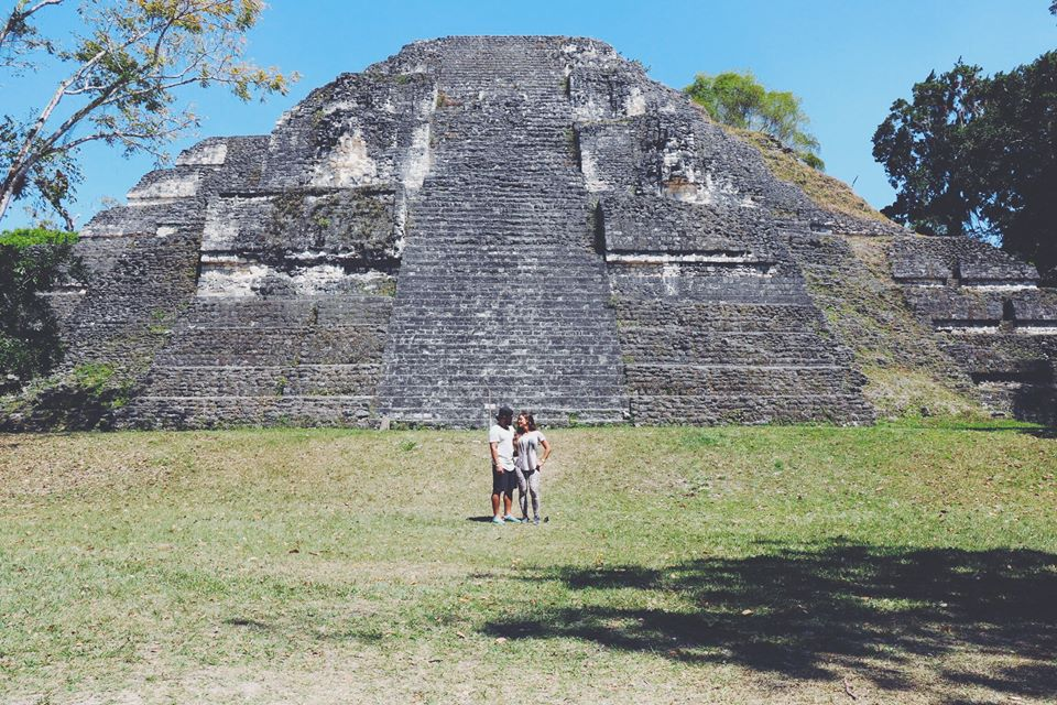 carla and moh in guatemala tikal flores guatemala mayan tours mayan ruins backpacking carla maria bruno travel blogger vlogger influencer.jpg