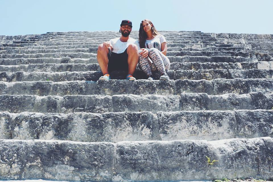 carla and her hubby on the mayan ruins tikal flores guatemala mayan tours mayan ruins backpacking carla maria bruno travel blogger vlogger influencer.jpg