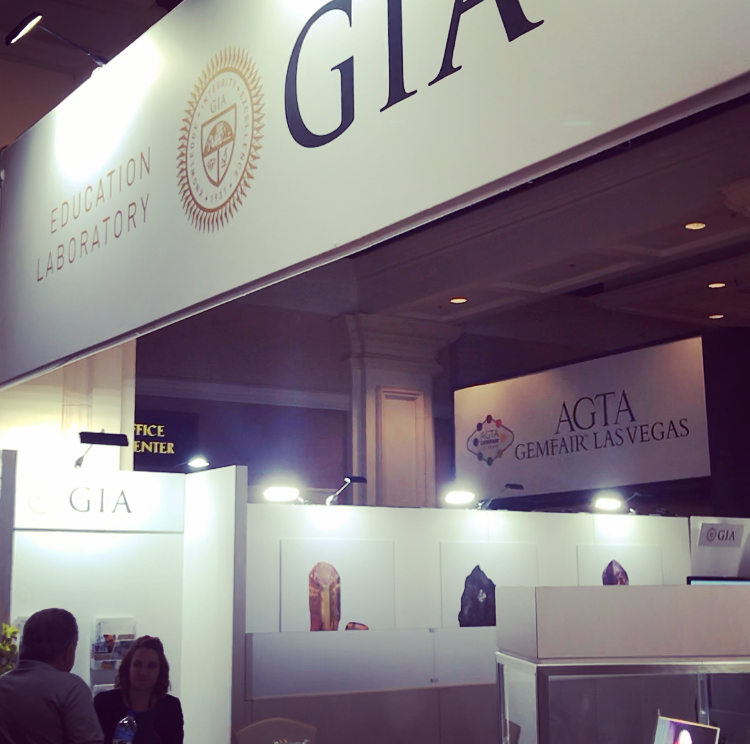 - Since I'm a graduate from the Gemological Institute of America (GIA), it was a pleasure and honor to visit their booth at the show, see all of their staff, and receive a kind welcome. I got to learn about the latest news from the school and development of the programs I was introduced to, which was great!