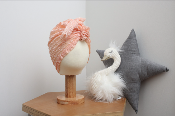 Peach Lace Turban