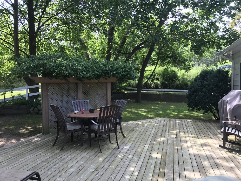 Enjoy the scenery or fire up the BBQ in the backyard