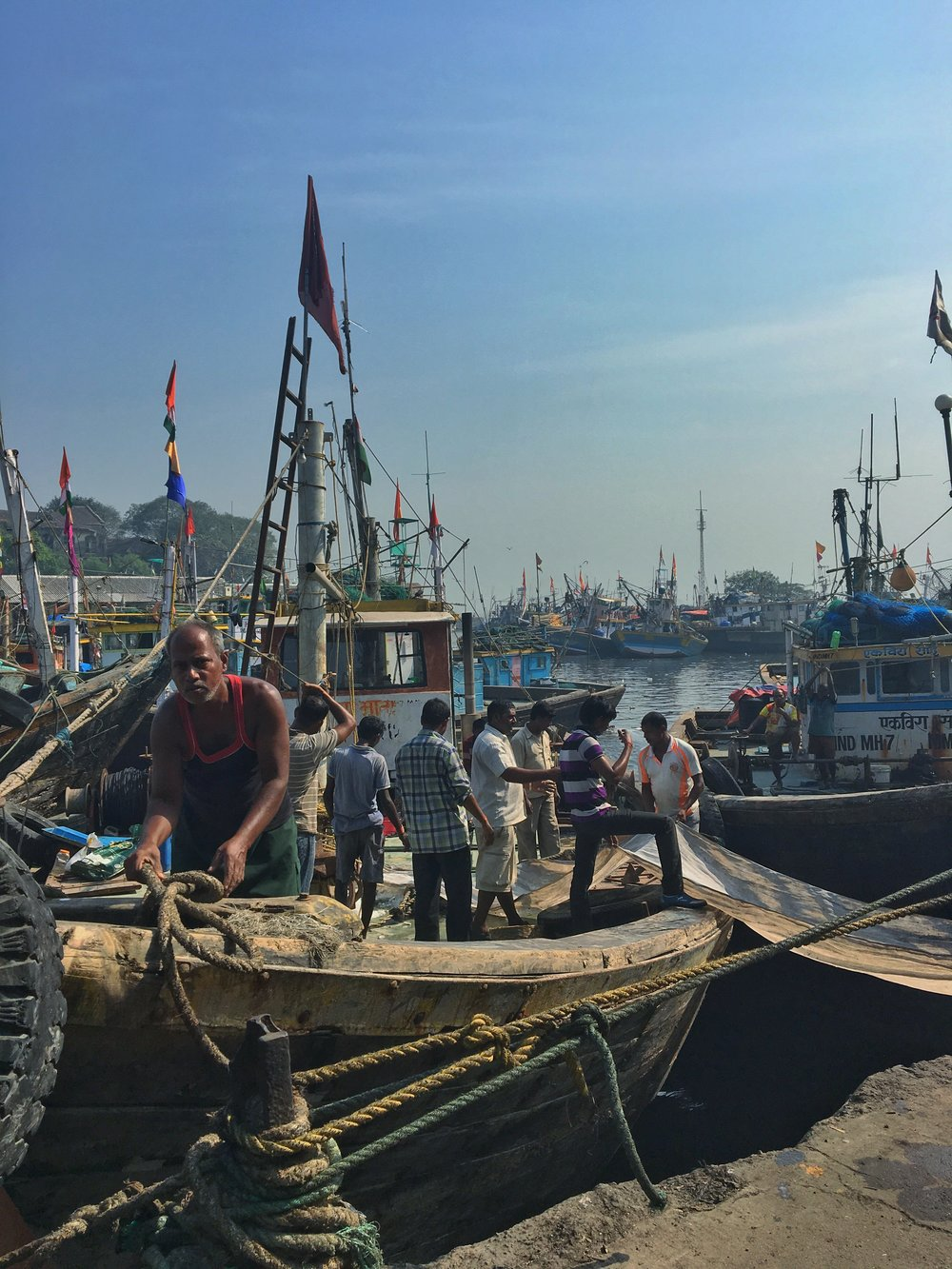 Sassoon docks in South Mumbai.
