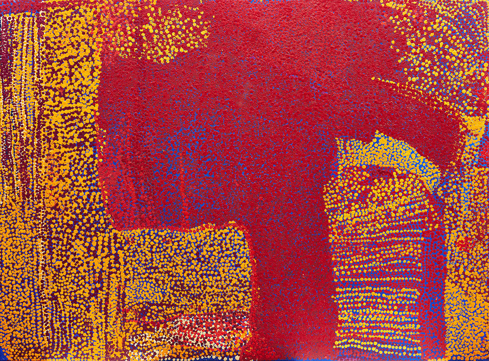 Waltjitjarata , 2003   Synthetic polymer paint on canvas 134 x 182cm   Provenance:  Painted in 2003 Irrunytju Arts, Western Australia Aboriginal and Pacific Art, Sydney Private Collection, Sydney