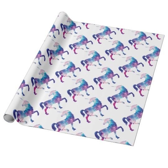 sparkly unicorn wrapping paper