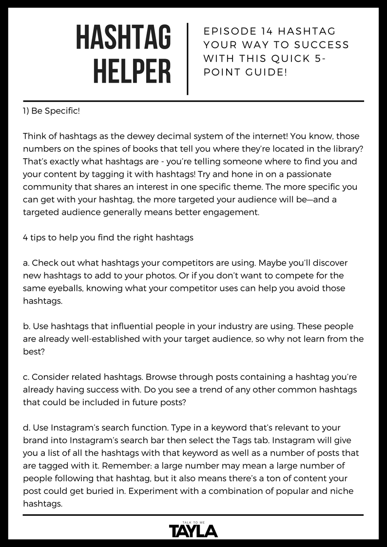 Copy of episode 13 get to know your target customer worksheet