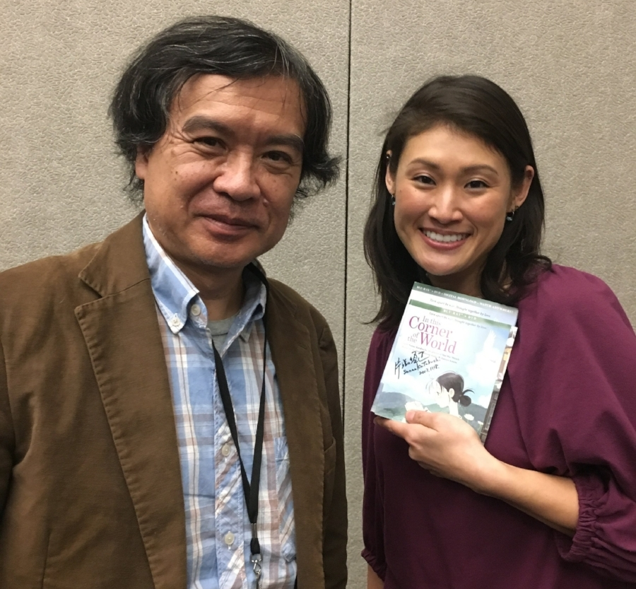 "With director Sunao Katabuchi for his film ""In This Corner of the World"" 「この世界の片隅で」の片渕監督の通訳"