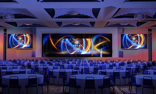 Great working with Mark Wallage of Concept Event Management on another instalment of the NECA Excellence Awards 2018 in Melbourne last week. Nothing better than transforming an artistic render into reality! Looking forward to Canberra this week