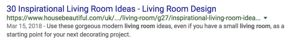 This page currently ranks 2nd for both 'Living Room Ideas' and 'Living Room Design'!