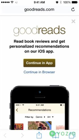 - Old goodreads mobile web interstitial