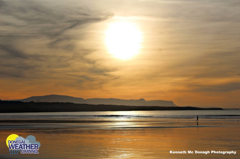 Photo of the sun shining on Rossnowlagh beach by  Kenneth Mc Donagh Photography