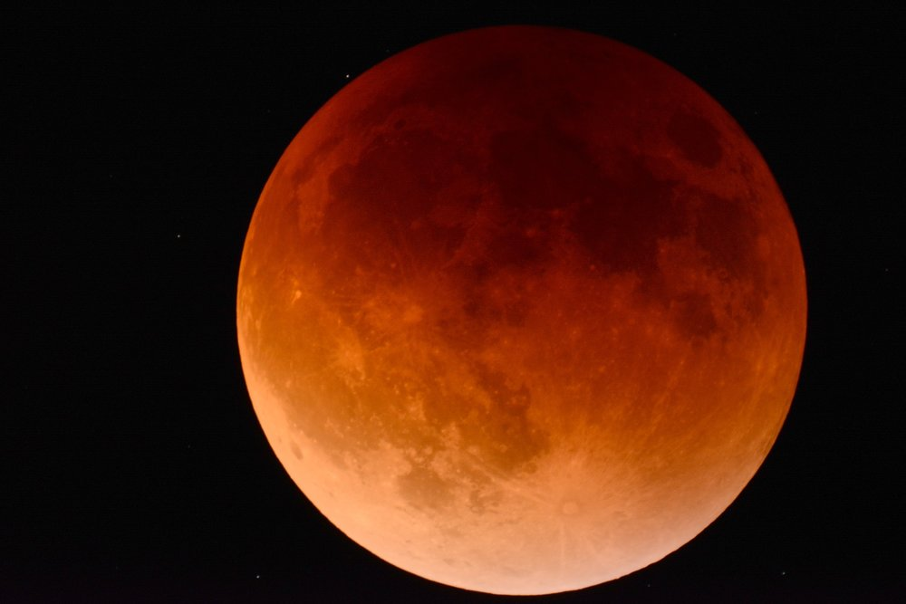 Blood moon Lunar eclipse moon