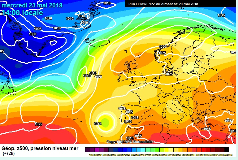 Strong area of High pressure over Ireland this week next