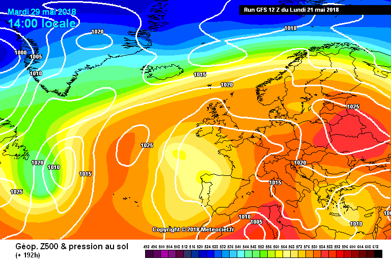 Warm humid air been directed towards Ireland and the UK early next week