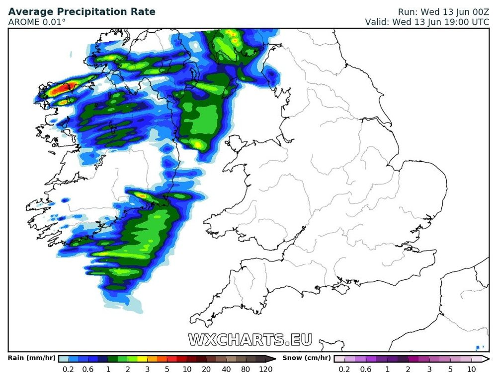 Rainfall at 4pm today