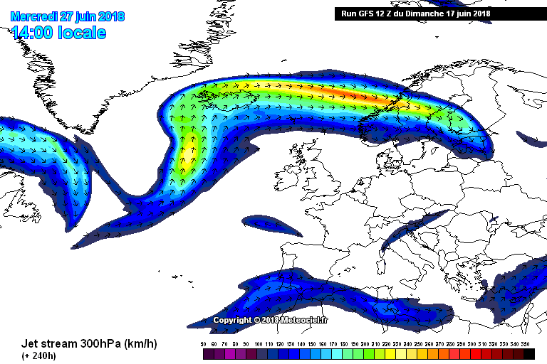 jet stream position over the last week of June