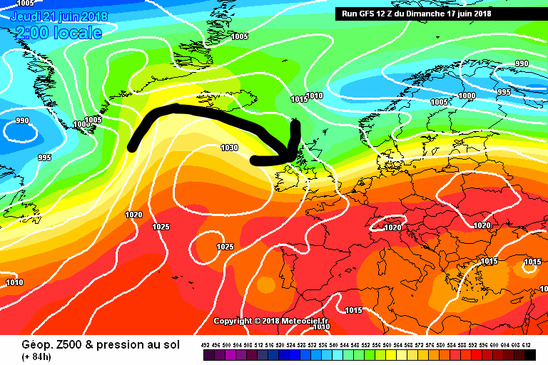 High pressure building at the end of the week with  northwesterly wind keeping things cooler