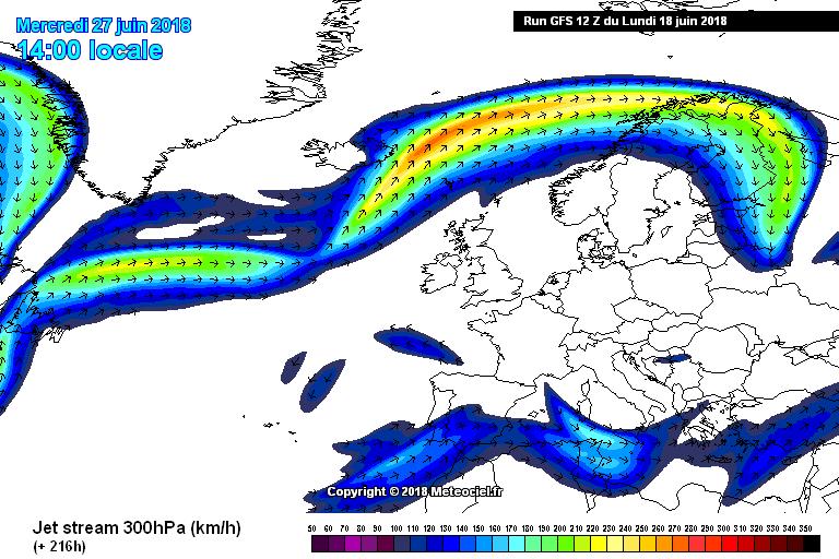 High pressure north of Ireland at the start of Ireland